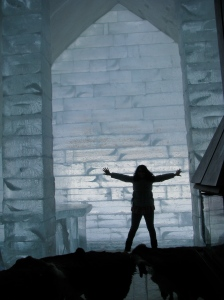 Nora at Ice Hotel Canada